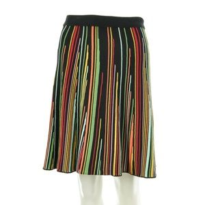 STEFANEL STRIPED COTTON FLAIR SKIRT SIZE SMALL